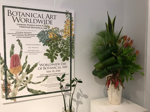 Cindy Young's arrangement Botanical Art City Hall Bermuda May 2018