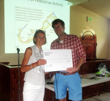 $2,500 donation to Bermuda Railway Trail & Bridges project