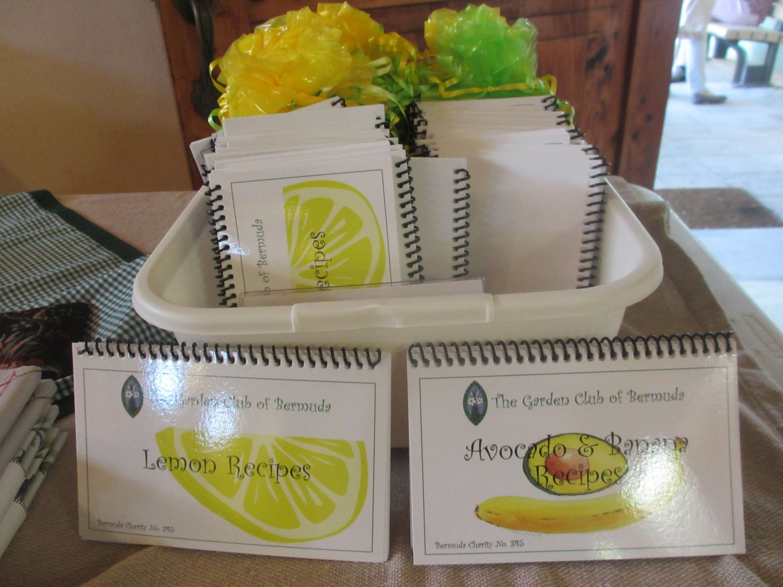 Lemon Recipes book and Avacados and Banana Recipes Book from The Bermuda Garden Club