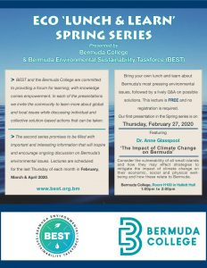 Best & Bermuda College Eco Lunch & Learn event promo flyer