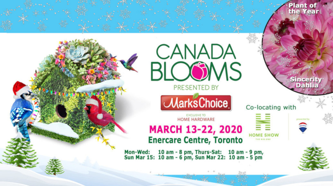 Canada blooms flower show 13-22, 2020
